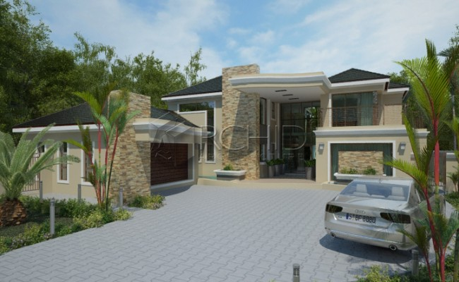 House plans south africa building plans South African House Design by Archid Architects_Valley View1