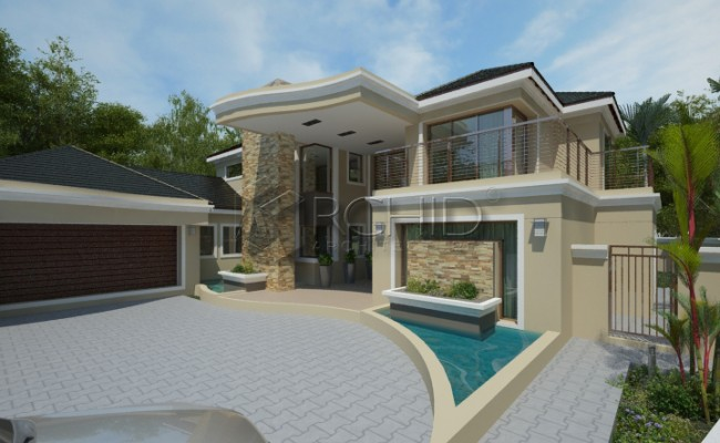5 Bedroom House Plan | Modern South African House Designs ...