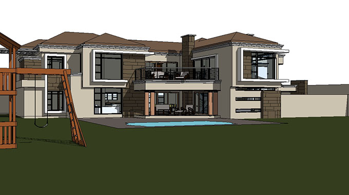 Contemporary Tuscan Styled House Design | House Plans SA ...