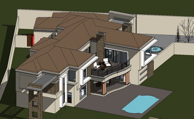 Contemporary Tuscan Styled House design house plans south africa archid architects_OND_290116 – 3D View – Copy of {3D}