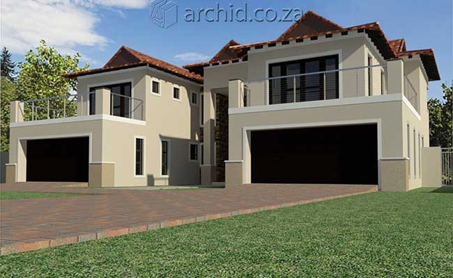 5 Bedroom House Plans South Africa – Modern 5 bedroom double storey house plans- Archid -32