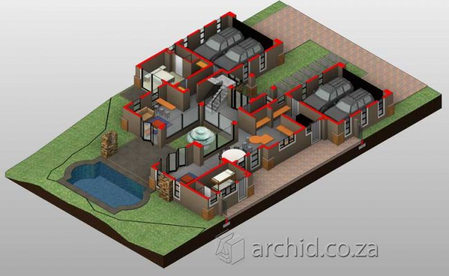 5 Bedroom House Plans South Africa – Modern 5 bedroom double storey house plans- Archid -33