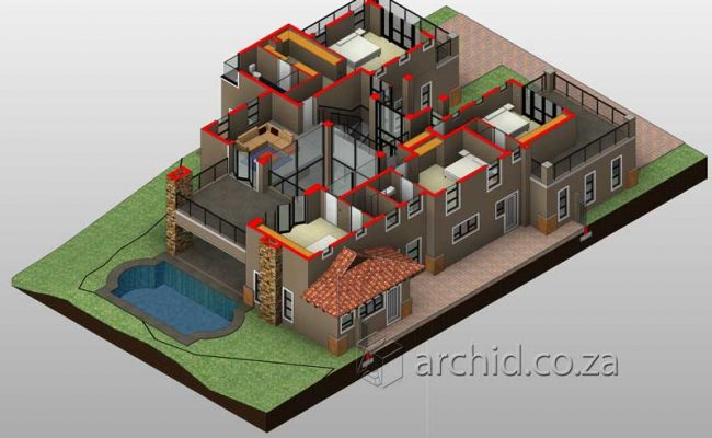 5 Bedroom House Plans South Africa – Modern 5 bedroom double storey house plans- Archid -34