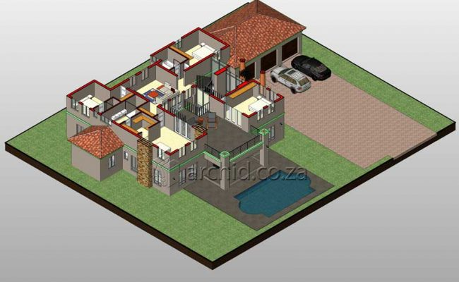 5 Bedroom House Plans Tuscan House Design – Architects in South Africa- Archid_56