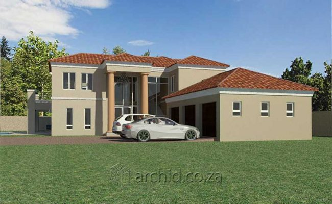 5 Bedroom House Plans Tuscan House Design – Architects in South Africa- Archid_58