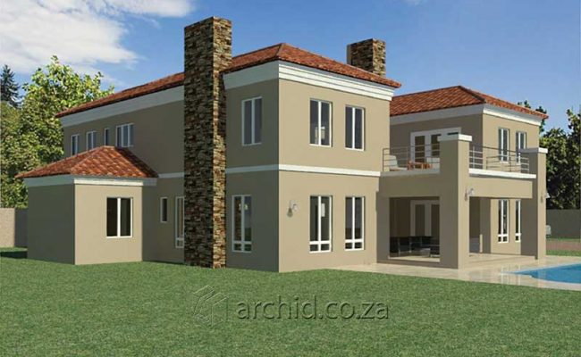 5 Bedroom House Plans Tuscan House Design – Architects in South Africa- Archid_59