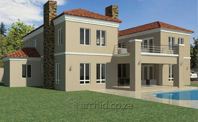 5 Bedroom House Plans Tuscan House Design – Architects in South Africa- Archid_60
