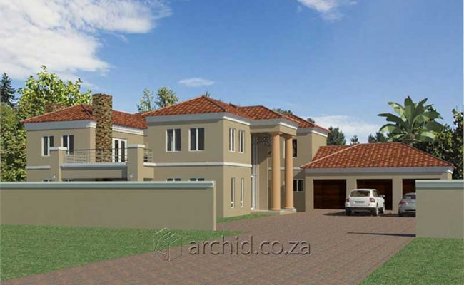 5 Bedroom House Plans Tuscan House Design – Architects in South Africa- Archid_61