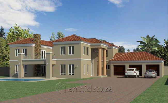 5 Bedroom House Plans Tuscan House Design – Architects in South Africa- Archid_62