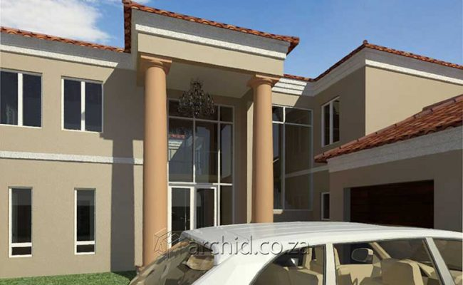 5 Bedroom House Plans Tuscan House Design – Architects in South Africa- Archid_63