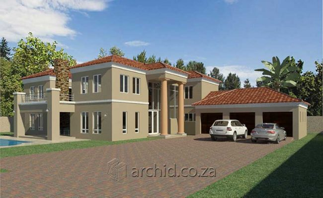 5 Bedroom House Plans Tuscan House Design – Architects in South Africa- Archid_64