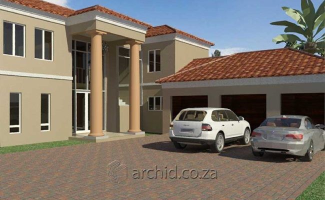 5 Bedroom House Plans Tuscan House Design – Architects in South Africa- Archid_65