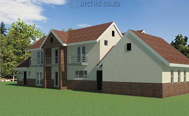 Architects in Africa 4 Bedroom Modern House Plan Designs_Archid South Africa10