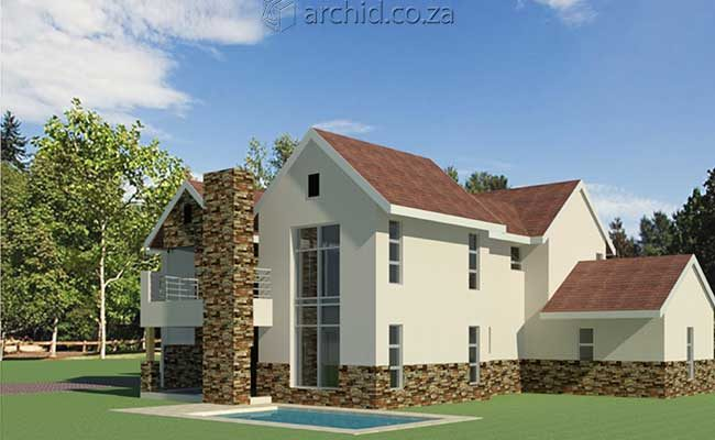 Architects in Africa 4 Bedroom Modern House Plan Designs_Archid South Africa11