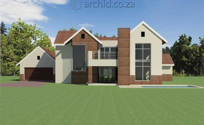 Architects in Africa 4 Bedroom Modern House Plan Designs_Archid South Africa12