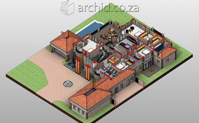 Architects in Africa 5 Bedroom Luxury House Plan Designs_ArchidSouth Africa27
