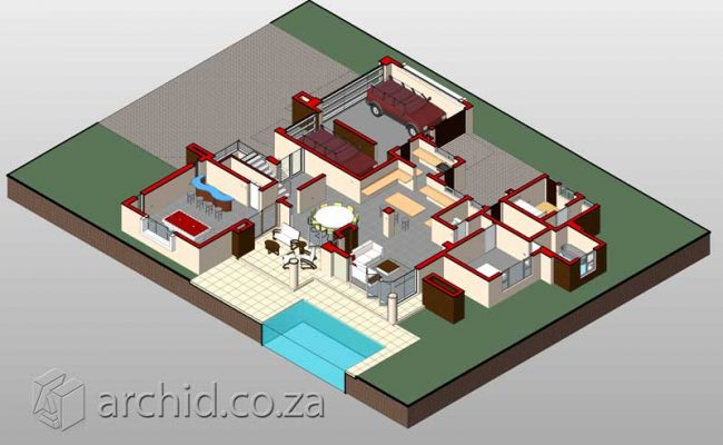 Architects in South Africa 4 Bedroom modern contemporary House Plan Designs_Archid_Modern House Plans_41