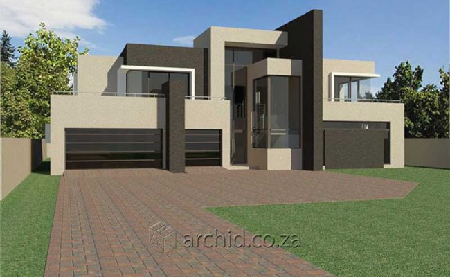 Architects in South Africa 4 Bedroom modern contemporary House Plan Designs_Archid_Modern House Plans_44
