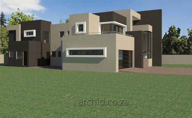Architects in South Africa 4 Bedroom modern contemporary House Plan Designs_Archid_Modern House Plans_46
