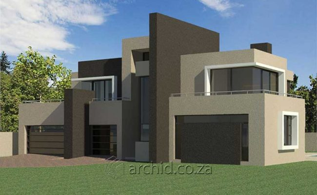 Architects in South Africa 4 Bedroom modern contemporary House Plan Designs_Archid_Modern House Plans_47