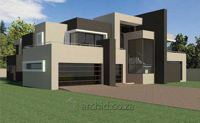 Architects in South Africa 4 Bedroom modern contemporary House Plan Designs_Archid_Modern House Plans_50