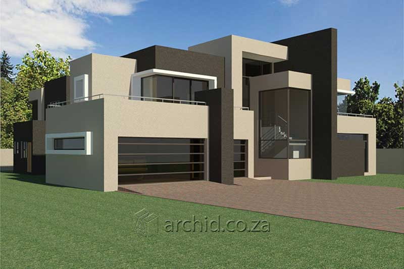Modern Contemporary 4 Bedroom House Plans Stock Floor