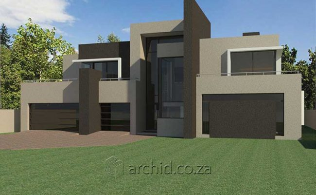 Architects in South Africa 4 Bedroom modern contemporary House Plan Designs_Archid_Modern House Plans_51