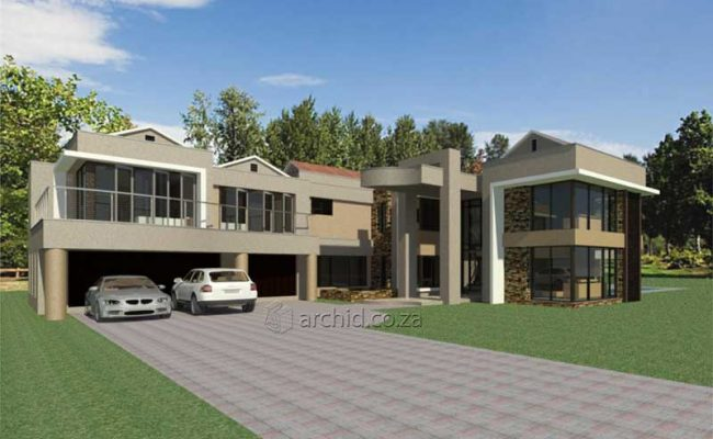 Modern Contemporary 5 Bedroom House Plans 3D in South ...