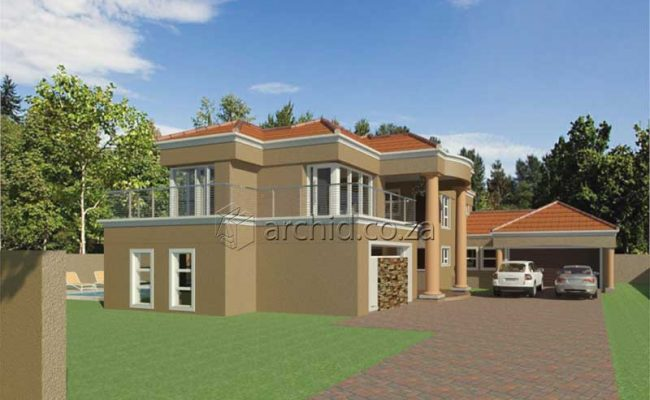 Double Storey Architecture Design Modern Tuscan 5 Bedroom Building House Floor Plan Designs_Archid_Architects in South Africa_54