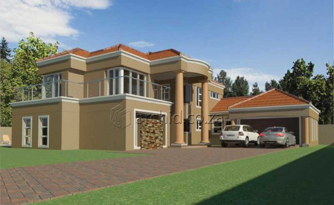 Double Storey Architecture Design Modern Tuscan 5 Bedroom Building House Floor Plan Designs_Archid_Architects in South Africa_55