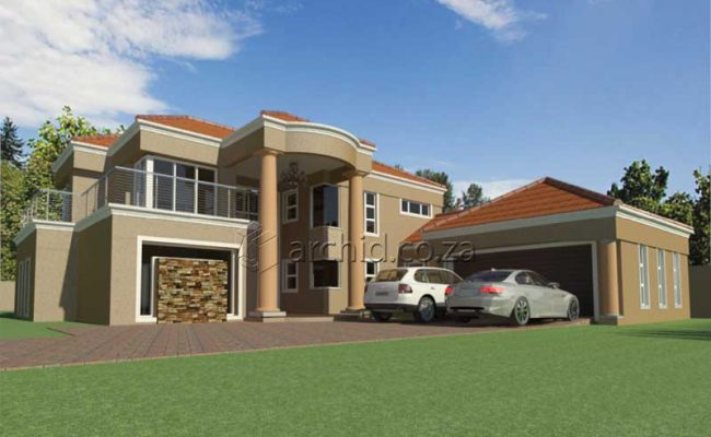 Double Storey Architecture Design Modern Tuscan 5 Bedroom Building House Floor Plan Designs_Archid_Architects in South Africa_56