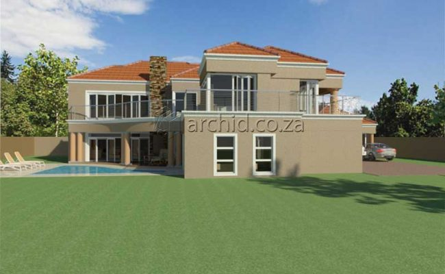 Double Storey Architecture Design Modern Tuscan 5 Bedroom Building House Floor Plan Designs_Archid_Architects in South Africa_57