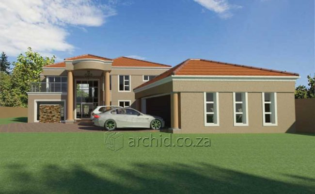Double Storey Architecture Design Modern Tuscan 5 Bedroom Building House Floor Plan Designs_Archid_Architects in South Africa_58