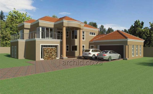 Double Storey Architecture Design Modern Tuscan 5 Bedroom Building House Floor Plan Designs_Archid_Architects in South Africa_59