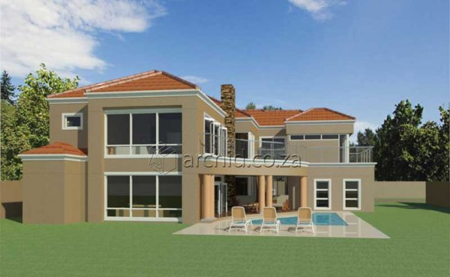 Double Storey Architecture Design Modern Tuscan 5 Bedroom Building House Floor Plan Designs_Archid_Architects in South Africa_60