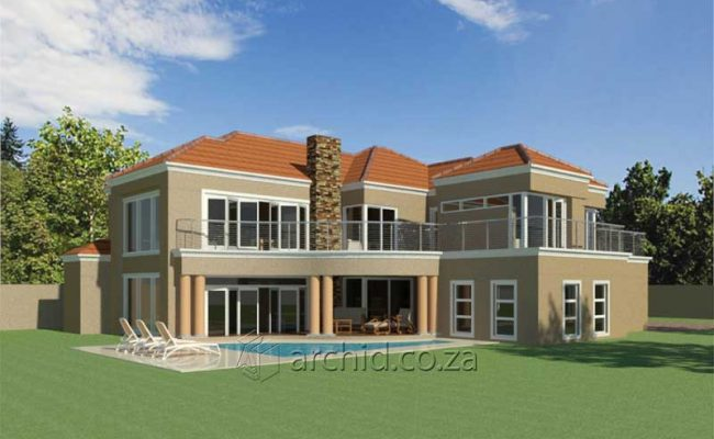 Double Storey Architecture Design Modern Tuscan 5 Bedroom Building House Floor Plan Designs_Archid_Architects in South Africa_61