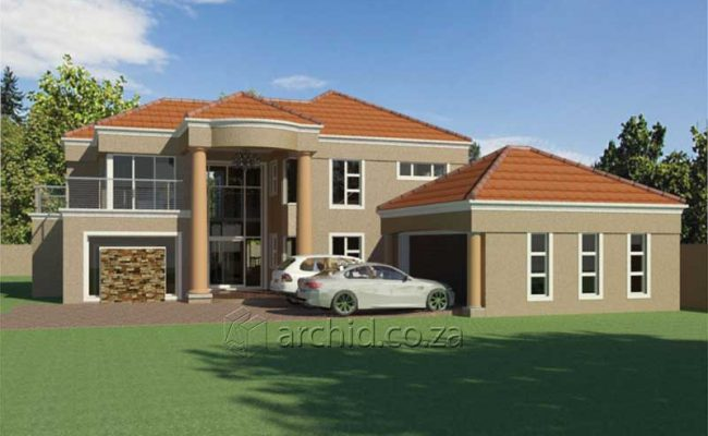 Double Storey Architecture Design Modern Tuscan 5 Bedroom Building House Floor Plan Designs_Archid_Architects in South Africa_62
