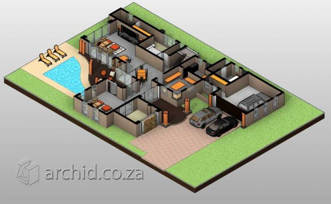 Double Storey Architecture Design Modern Tuscan 5 Bedroom Building House Floor Plan Designs_Archid_Architects in South Africa_63