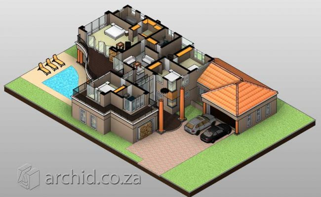 Double Storey Architecture Design Modern Tuscan 5 Bedroom Building House Floor Plan Designs_Archid_Architects in South Africa_64