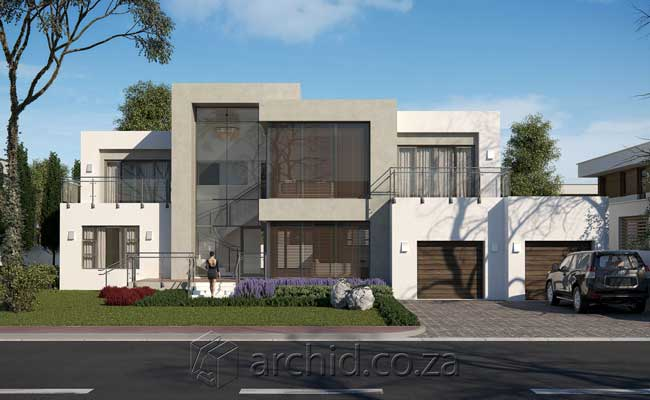 Modern House Design Contemporary 4 Bedroom House Plans- Archid Architecture Designs_21