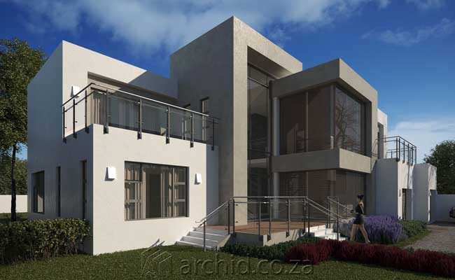 Modern House Design Contemporary 4 Bedroom House Plans- Archid Architecture Designs_22