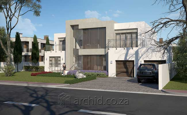 Modern House Design Contemporary 4 Bedroom House Plans- Archid Architecture Designs_23