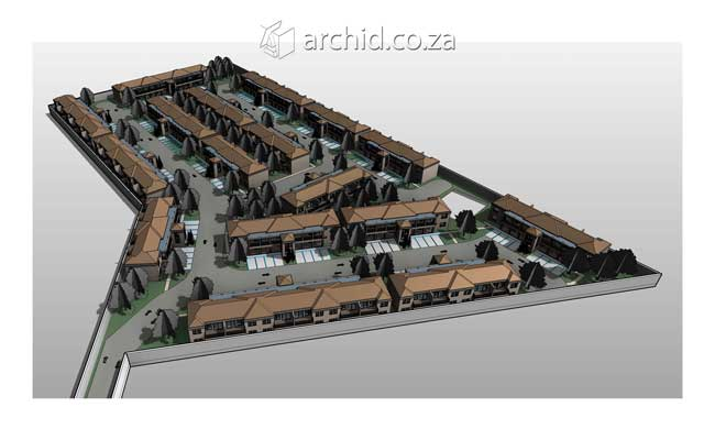 Two Room House Plans Townhouse Development – 3 Bedroom House Plans Units- Archid Architecture_32